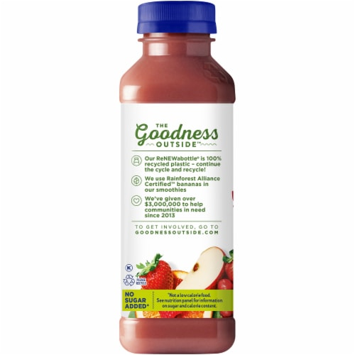 Naked Red Machine Juice Smoothie Blend Perspective: left