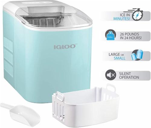 Igloo Automatic Portable Countertop Ice Maker - Aqua Perspective: left