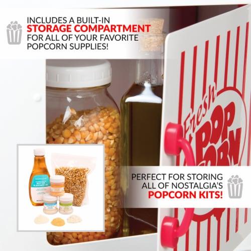 Nostalgia Popcorn Cart - Red / White Perspective: left