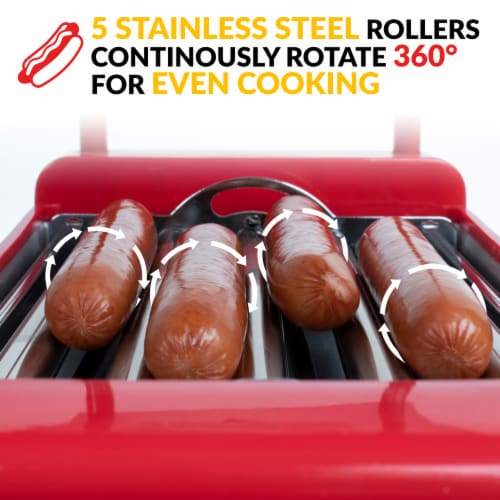 Nostalgia Hot Dog Roller and Bun Warmer Perspective: left