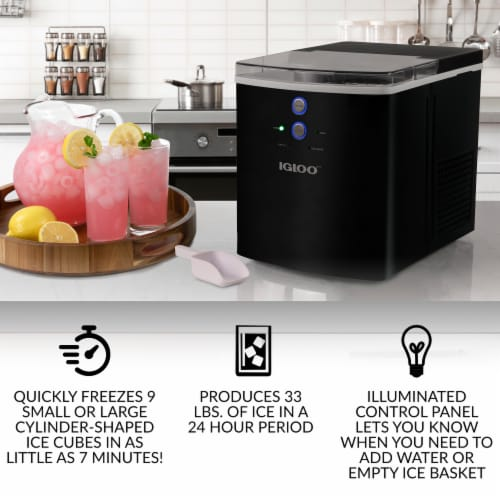Igloo Automatic Portable Countertop Ice Maker - Black Perspective: left