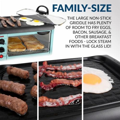 Nostalgia Retro 3-in-1 Family Breakfast Station - Aqua Perspective: left