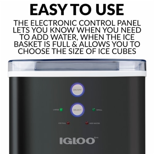 Igloo 33-Pound Automatic Portable Countertop Ice Maker Machine - Black Perspective: left