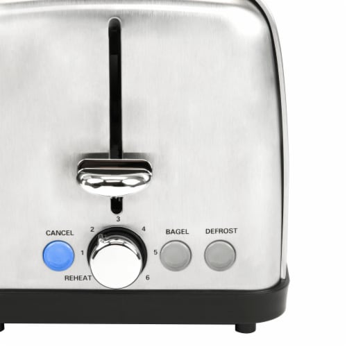 HomeCraft Stainless Steel 4-Slice Toaster - Silver Perspective: left
