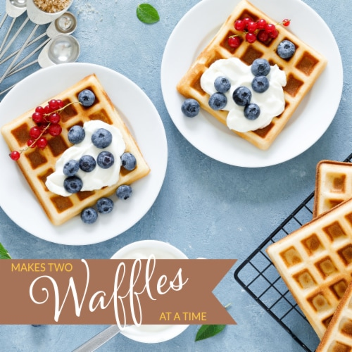 Nostalgia Vertical Waffle Toaster Perspective: left