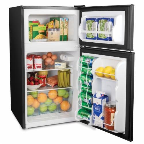 Igloo Double Door Refrigerator With Freezer - Black Perspective: left