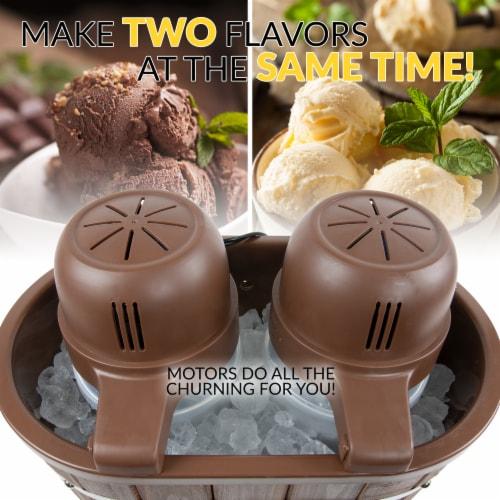Nostalgia Double Flavor Ice Cream Maker Perspective: left