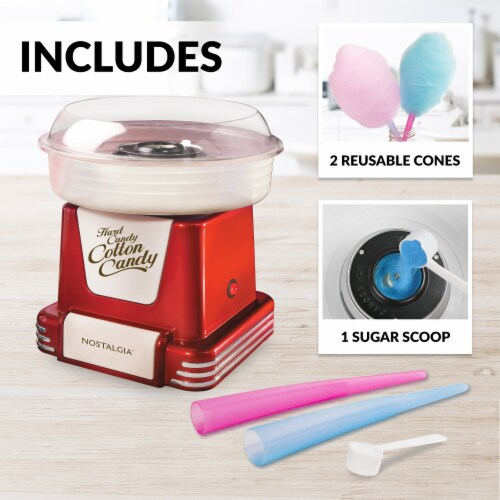 Nostalgia Retro Hard & Sugar-Free Candy Cotton Candy Maker Perspective: left