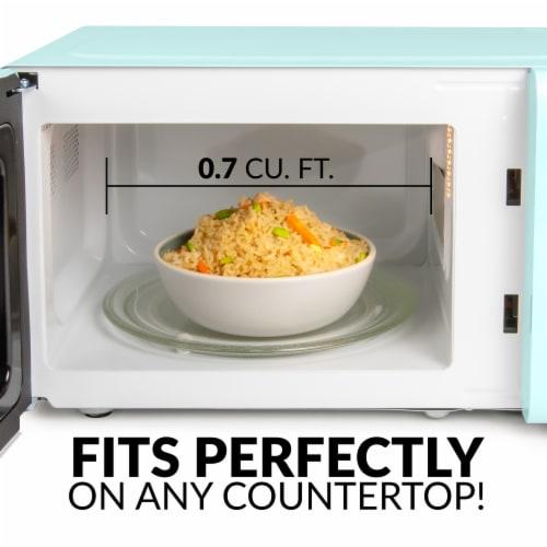 Nostalgia Countertop Microwave Oven - Aqua Perspective: left