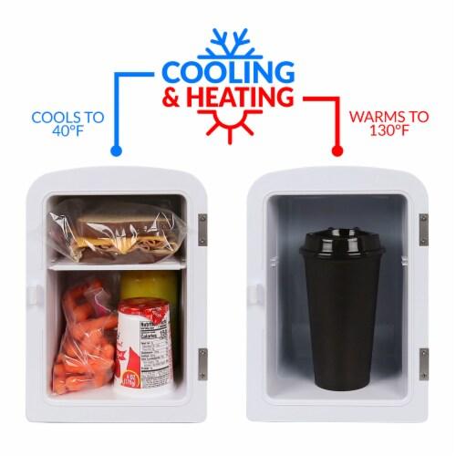 Nostalgia Retro Mini Refrigerator - Aqua Perspective: left