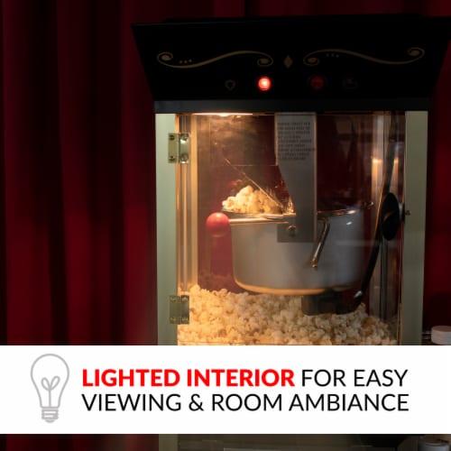Nostalgia Vintage Commercial Popcorn Cart Perspective: left