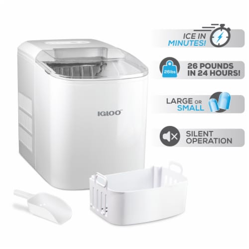 Igloo Automatic Portable Countertop Ice Maker - White Perspective: left