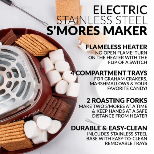 Nostalgia Electric S'mores Maker - Brown Perspective: left