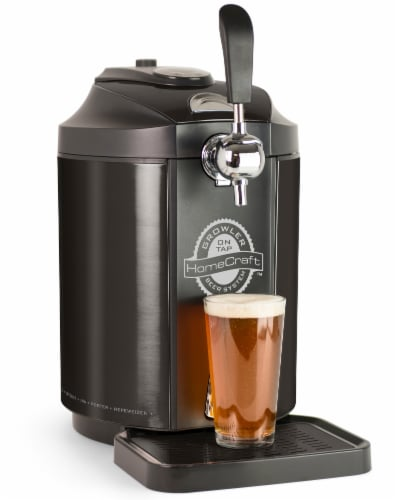 HomeCraft Stainless Steel Tap Beer Growler Cooling System - Black Perspective: left
