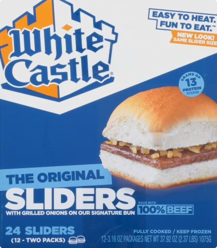 White Castle The Original Hamburger Sliders Perspective: left