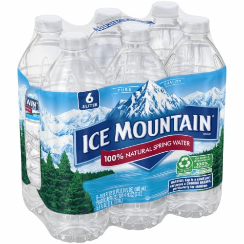 Ice Mountain Natural Spring Water 6 Count Perspective: left