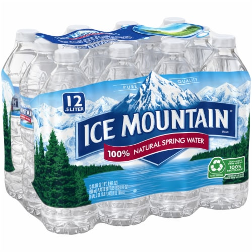 Ice Mountain Natural Spring Water 12 Count Perspective: left