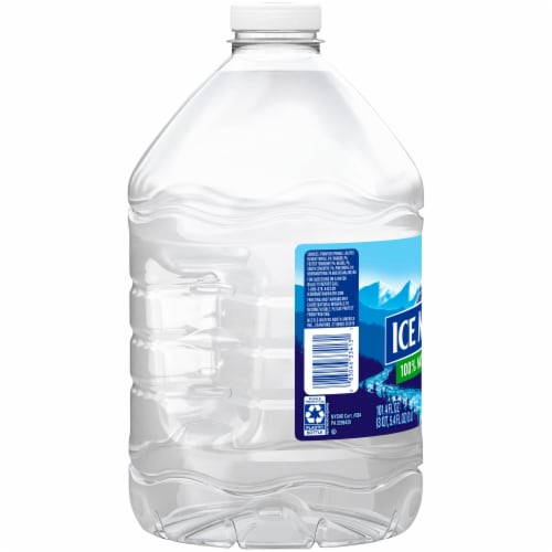 Ice Mountain Natural Spring Bottled Water Perspective: left