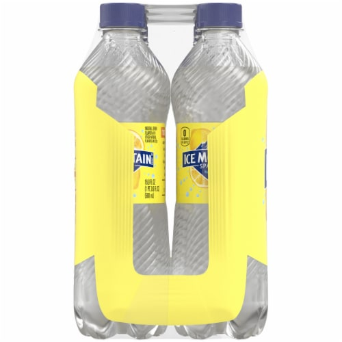 Ice Mountain Lively Lemon Sparkling Water 8 Count Perspective: left