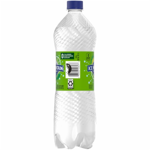 Ice Mountain Sparkling Zesty Lime Natural Spring Bottled Water Perspective: left