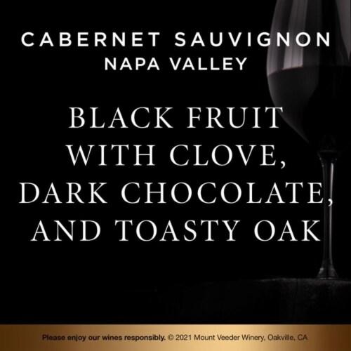 Mount Veeder Winery Cabernet Sauvignon Red Wine Perspective: left