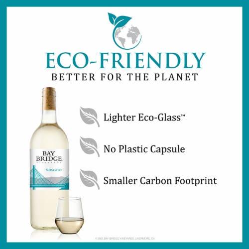 Bay Bridge Moscato White Wine Perspective: left