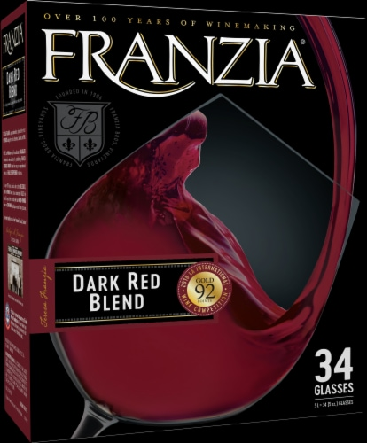 Franzia Dark Red Wine Perspective: left