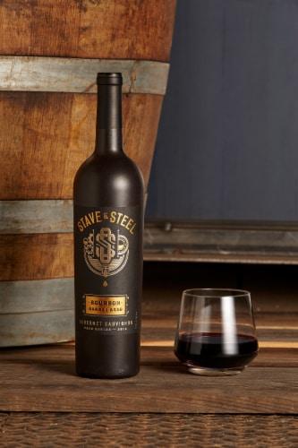 Stave & Steel Bourbon Barrel Aged Cabernet Sauvignon Red Wine Perspective: left