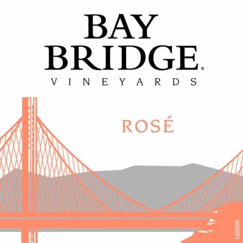 Bay Bridge Rose Wine Perspective: left