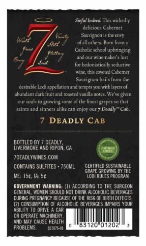 Seven Deadly Cabernet Sauvignon Perspective: left