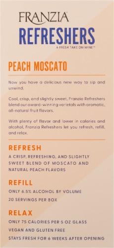 Franzia Refreshers Peach Moscato Box Rose Wine Perspective: left