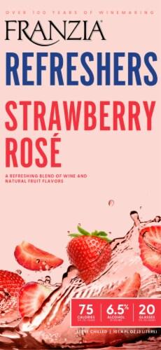 Franzia Refreshers Strawberry Rose Box Wine Perspective: left