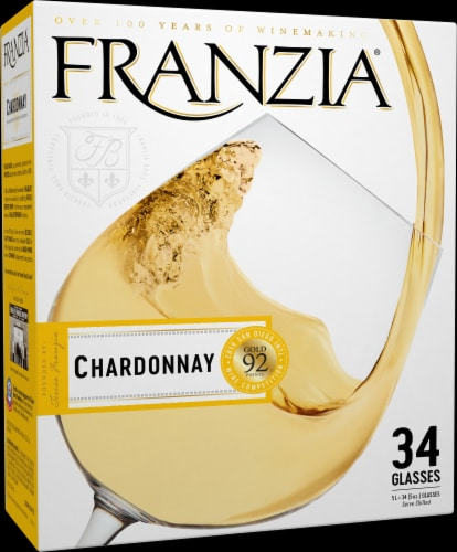 Franzia Chardonnay Boxed White Wine Perspective: left