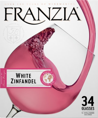 Franzia White Zinfandel Pink Wine Perspective: left