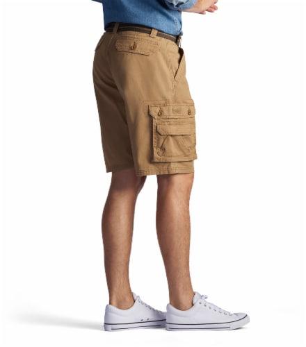Lee Men's Wyoming Cargo Shorts - Bourbon Perspective: left