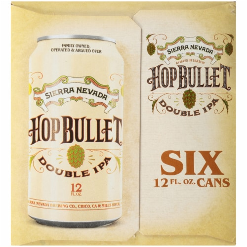 Sierra Nevada Brewing Co. Hop Bullet Double IPA Perspective: left