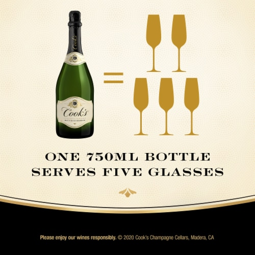 Cook's Grand Reserve Champagne Sparkling White Wine Perspective: left