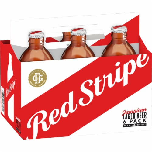 Red Stripe Jamaican Lager Perspective: left