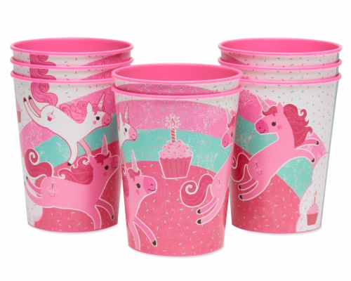 American Greetings Unicorn Plastic Party Cups Perspective: left