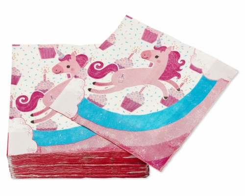 American Greetings Unicorn Paper Lunch Napkins Perspective: left