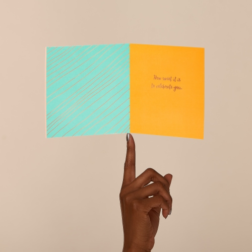 American Greetings Birthday Card (Cake Day) Perspective: left