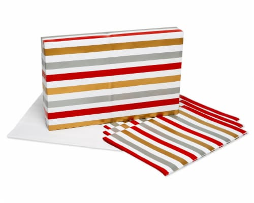 American Greetings Wrapping Paper Sheets with Gridlines Stripes and Polka Dots Perspective: left