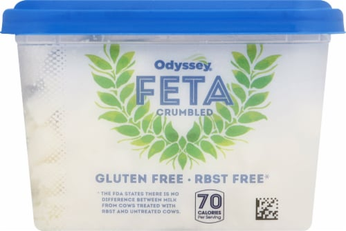 Odyssey Traditional Crumbled Feta Cheese Perspective: left