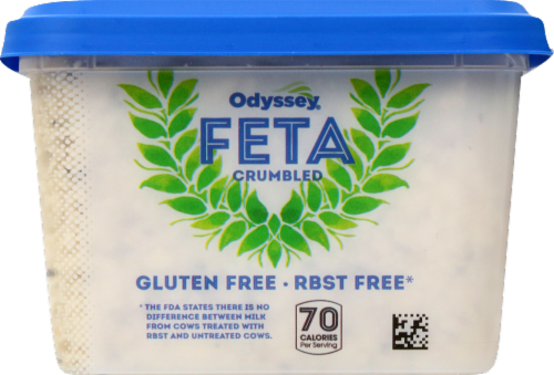 Odyssey Peppercorn Crumbled Feta Cheese Perspective: left