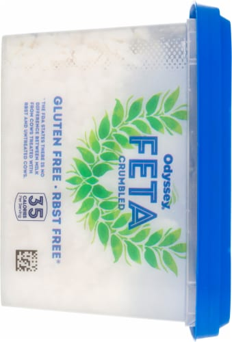 Odyssey Fat Free Crumbled Feta Cheese Perspective: left