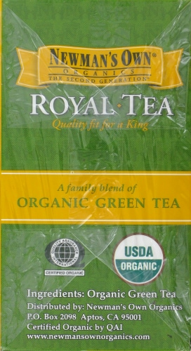 Newman's Own Royal Organic Green Tea Perspective: left