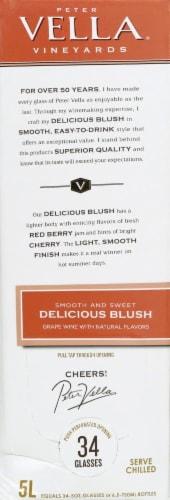 Peter Vella Vineyards Blush Wine Perspective: left