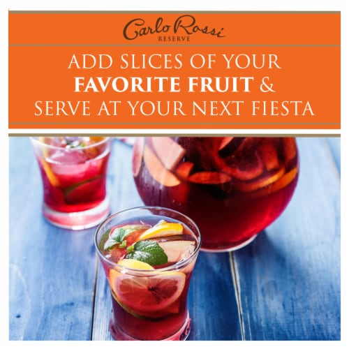 Carlo Rossi Sangria Sweet Red Wine Perspective: left