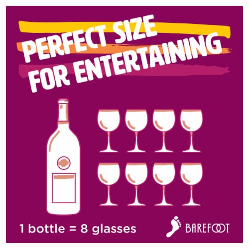 Barefoot Sweet Red Wine Perspective: left