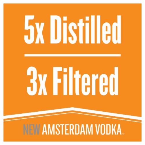 New Amsterdam Peach Flavored Vodka Perspective: left